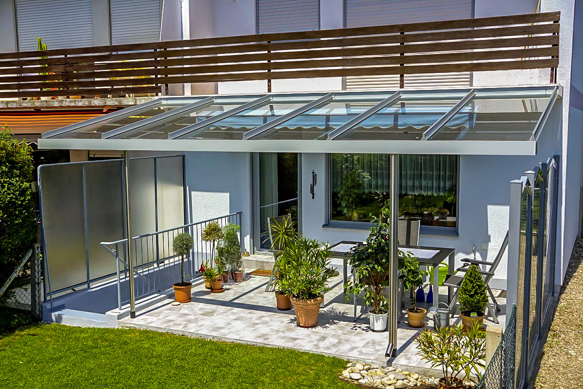 Terrassenuberdachung Aus Aluminium Und Glas Mwk Gmbh